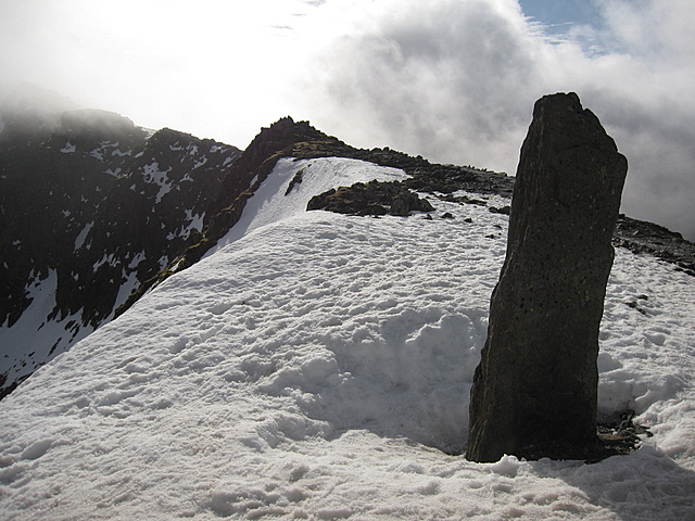 The obelisk at Bwlch Glas