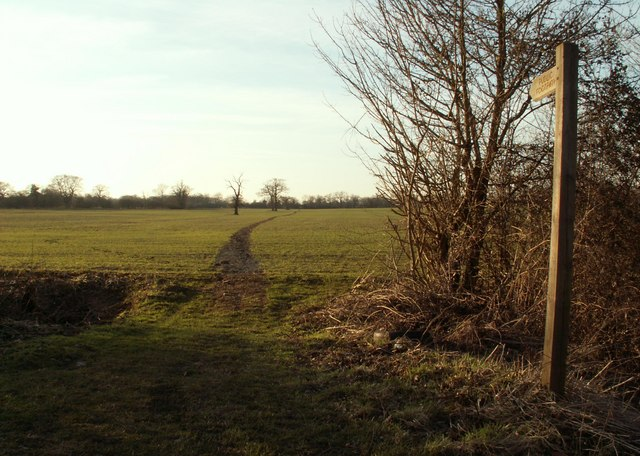 Public footpath to Nine Ashes from Blackmore