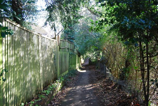 Footpath behind Farmcombe Rd