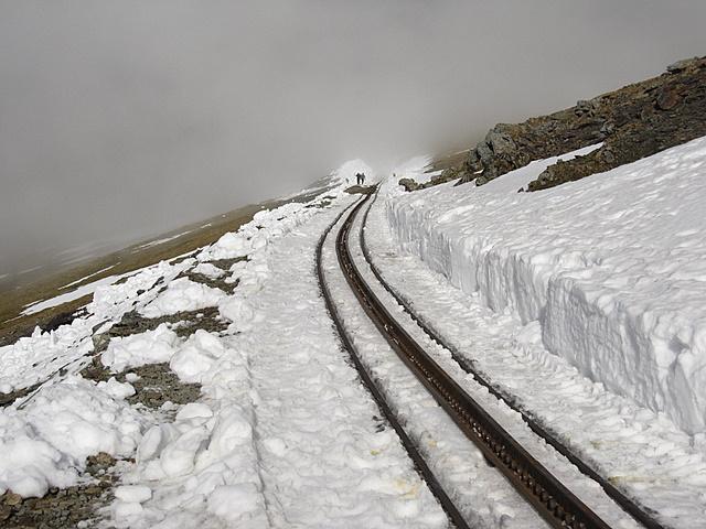 Snowdon railway towards the Snowdon Ranger path