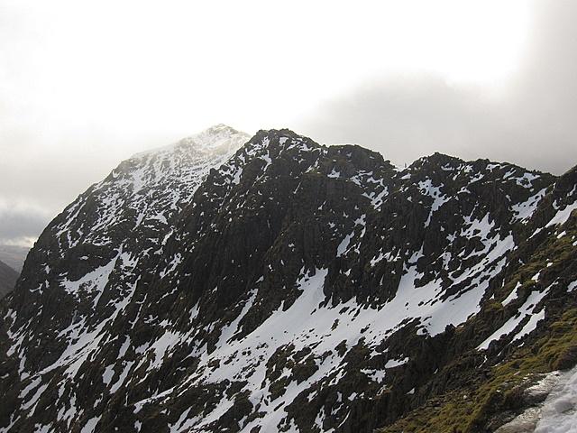 The summit of Yr Wyddfa from Bwlch Glas