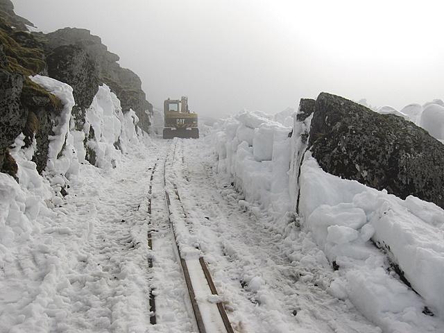 Snowdon Mountain Railway out of the snowdrift