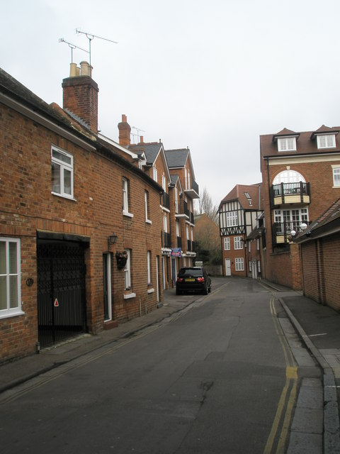 Looking along King Stable Street towards Chantry Place