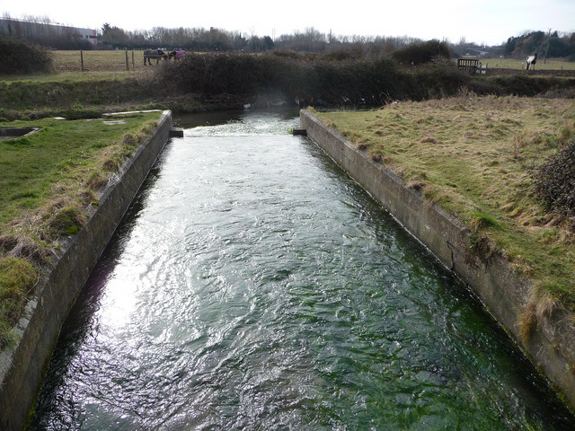 The outflow from the waterworks, Seven Springs