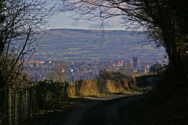 Ludlow from Lower Wood Road