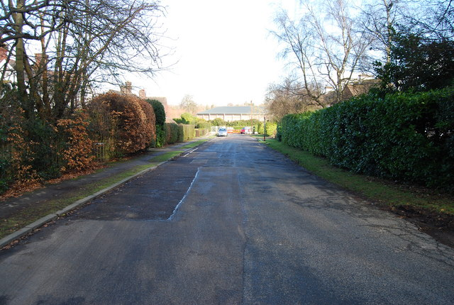 Looking along Nevill Gate to The Nevill Cricket Ground