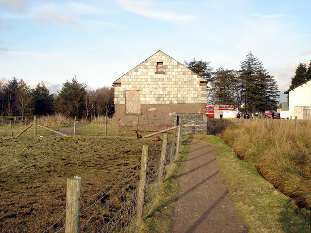 Disused building next to Princetown Fire Station