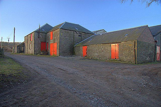 Farm buildings, Nether Hayston