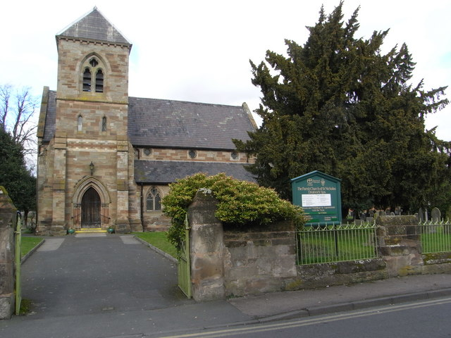 The parish church of St Nicholas, Droitwich