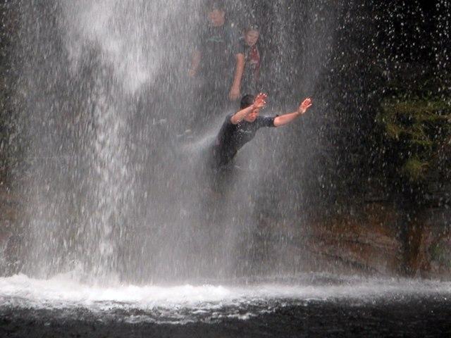 Diving the falls