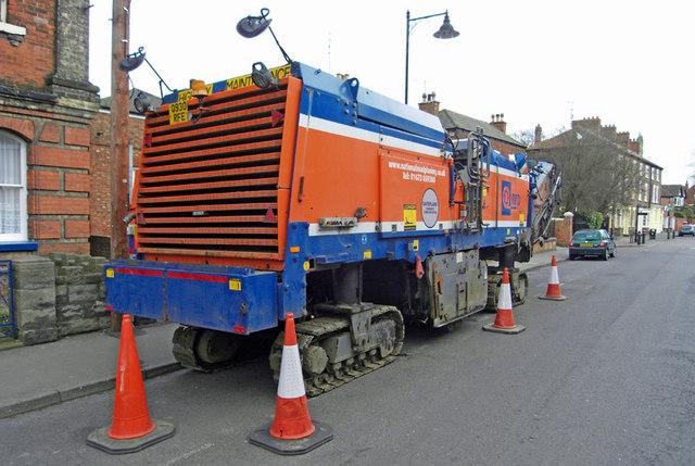 NRP Re-surfacing Machine on High Street