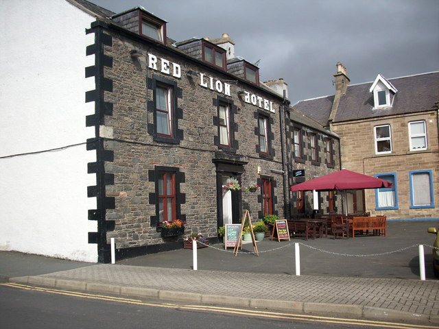 The Red Lion Hotel, Earlston, Berwickshire.