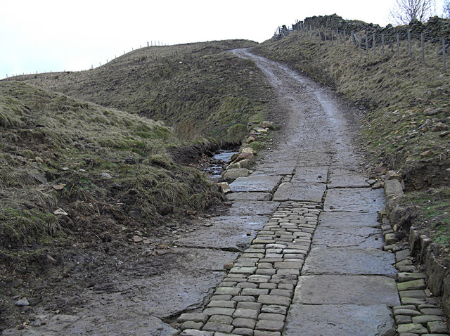 Bridleway crossing Will Moor Clough