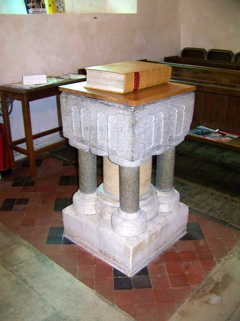 Font, St Laurence's Church, Affpuddle
