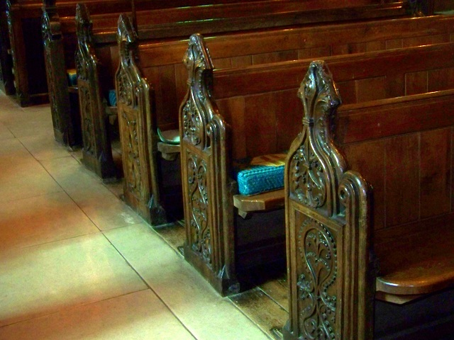 Bench ends, St Laurence's Church, Affpuddle