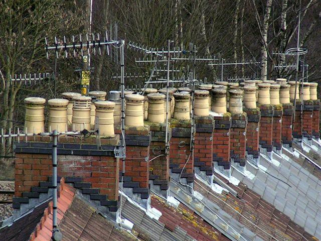 Rooftops in Brithdir