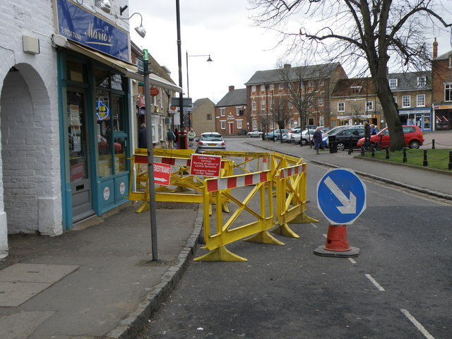 Minor roadworks in Olney