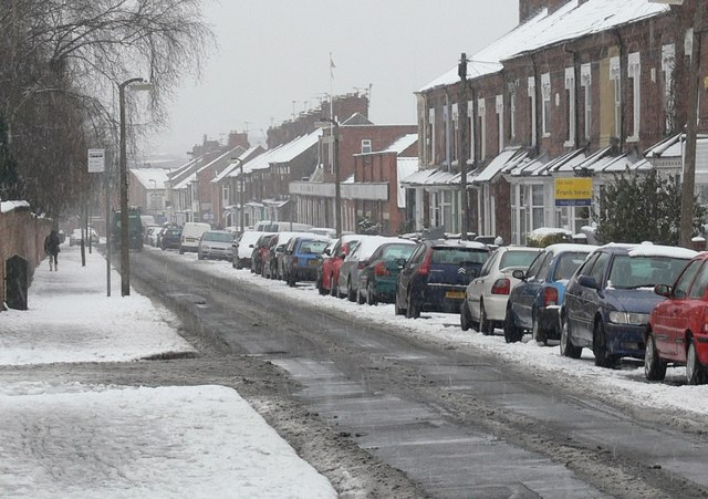 Milligan Road in the snow