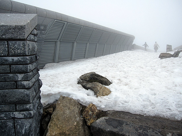 Hafod Eryri facing the summit of Yr Wyddfa