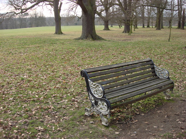 Ornate bench, Cassiobury Park
