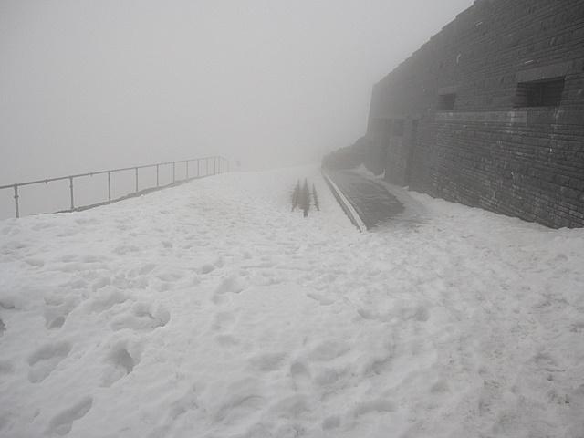Summit station for the Snowdon Mountain Railway