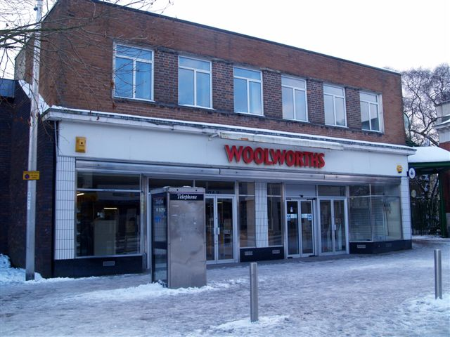 Now closed down Woolworths