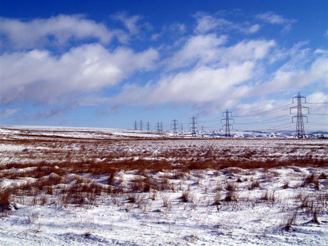 Pylons over the moor