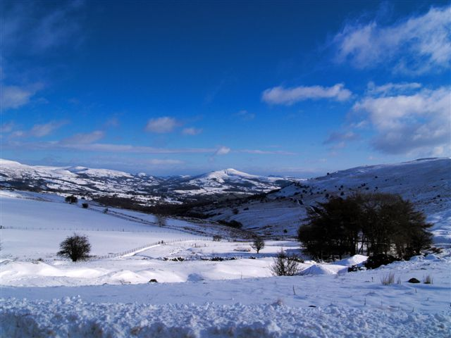 Snow looking towards Sugar Loaf