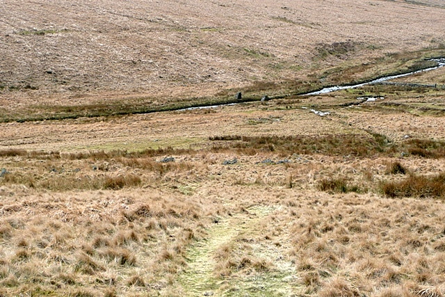 Descending on the Two Moors Way