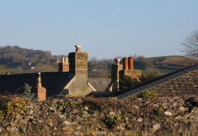 Collection of chimney pots