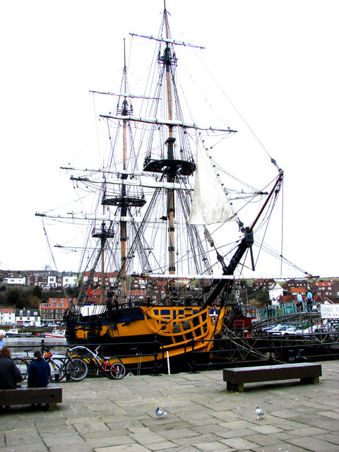 The  Frigate 'Grand Turk', Whitby Harbour