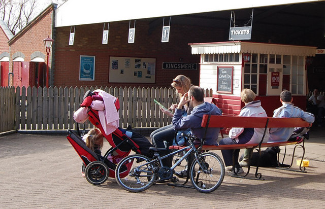 Waiting for the train, Moors Valley Country Park, Dorset