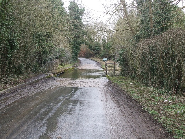 Ford near Edlesborough Mills - View eastwards