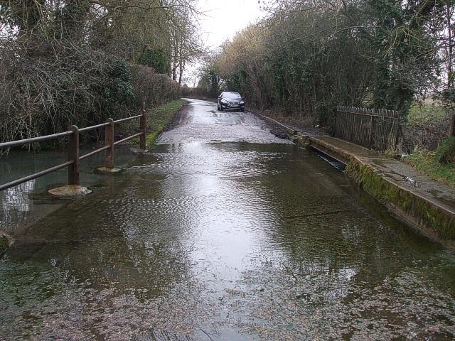 Ford near Edlesborough Mills - View westwards