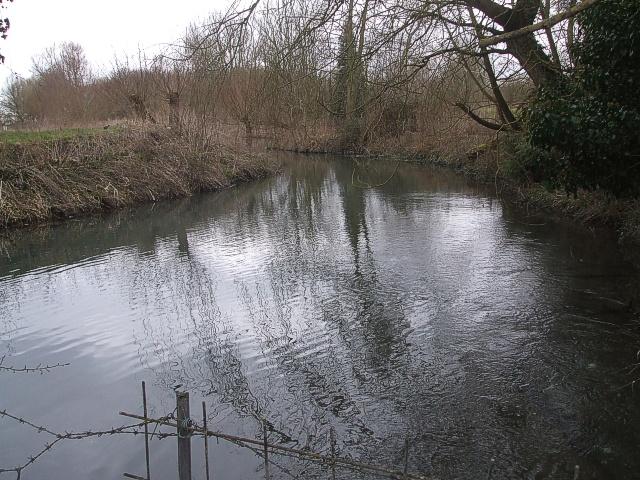 Stream at Edlesborough - View northwards