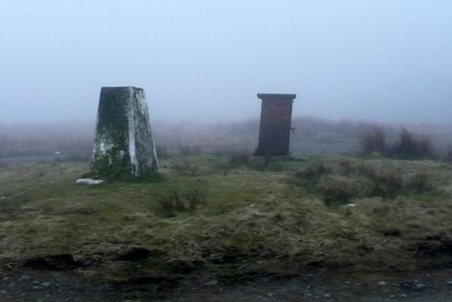 Trig point on Mynydd Bwlch-y-groes