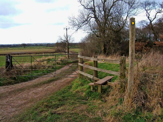 Public footpath off the Milton to Ingleby road