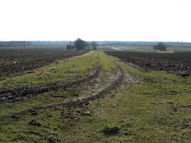 View across fields