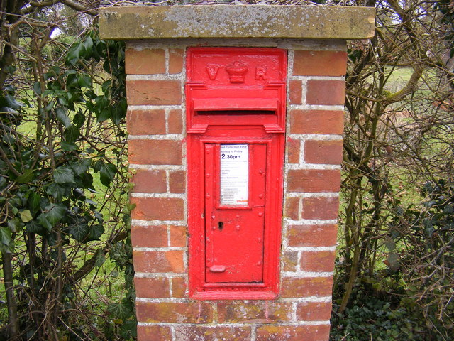 Corner Farmhouse The Street Victorian Postbox
