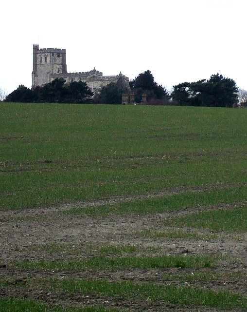 St Mary's from south of Edlesborough