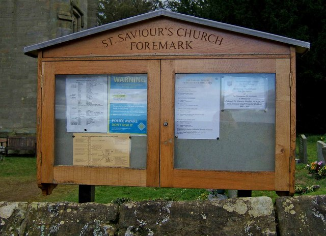 St. Saviour's Church notice board