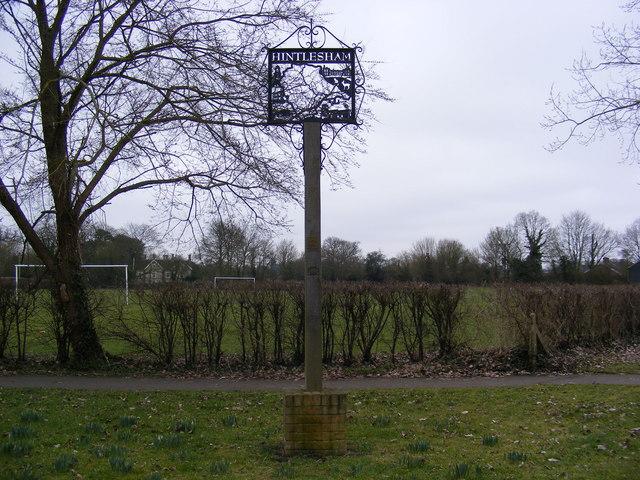 Hintlesham Village Sign