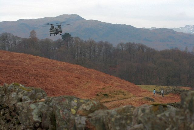Chinook Playing Over Rydal Water