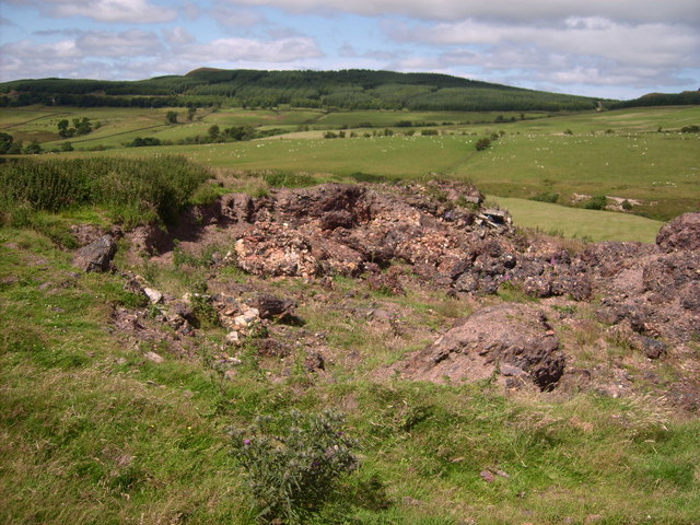 Waste heap from Lethans colliery