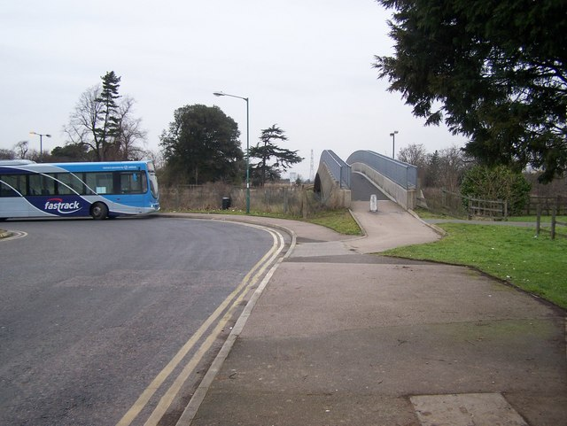 Footbridge over A206 University Way