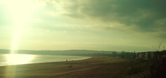 The curve of Swansea Bay