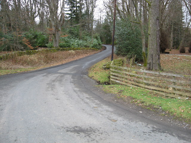 Bends on the country road to Ashiestiel