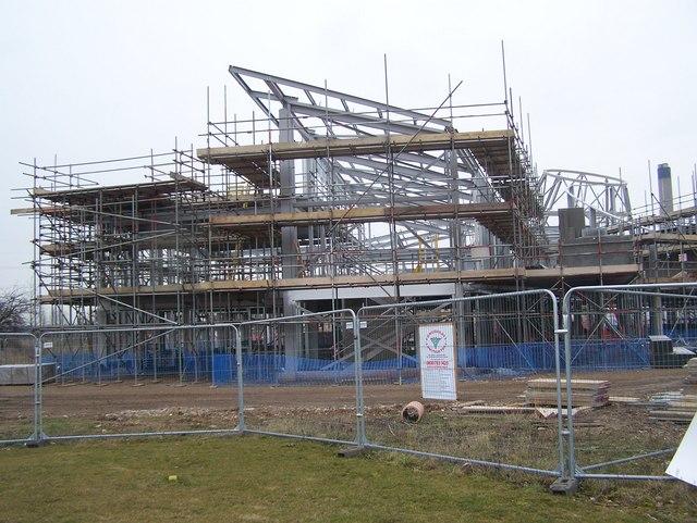 New School construction in The Bridge