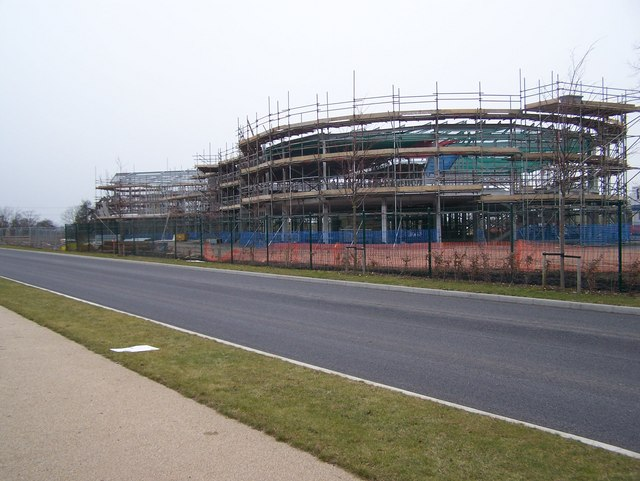 New School construction on empty bus route