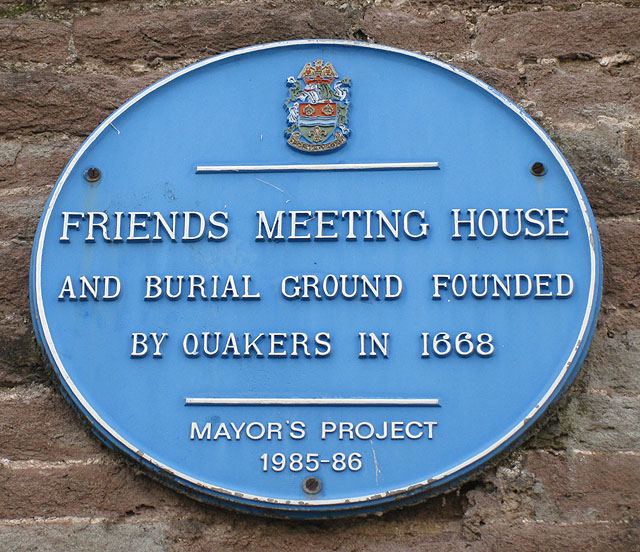 Friends Meeting House plaque